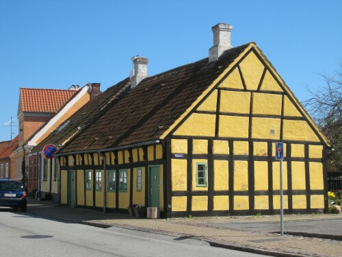 Danish half-timbered home in Saeby