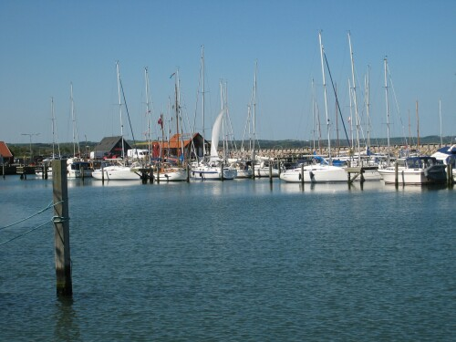 Sailboats in Saeby Harbour - Saeby Havn