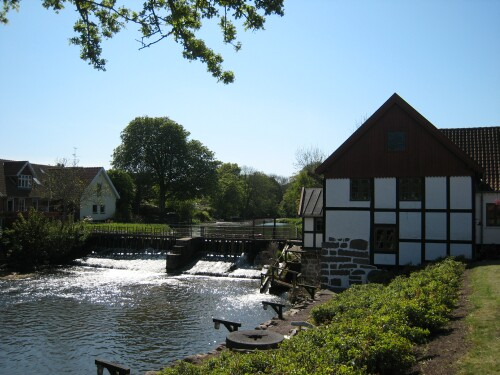 Danish Watermill in Northern Jutland - Vandmoelle in Denmark