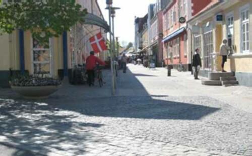 Walking Street in Denmark - Saeby Pedestrian Street