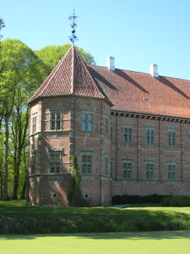 Denmark Voergaard Castle Towers