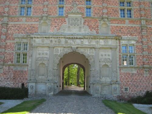 Entrance to Voergaard Castle in Vendsyssel