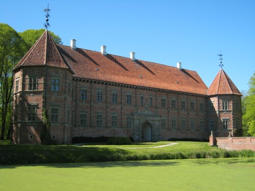 Moats Around Castles and Manor Homes in Denmark