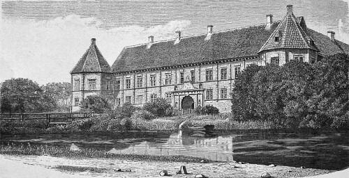 Voegaard Slot Illustration by Josef Theodor Hansen