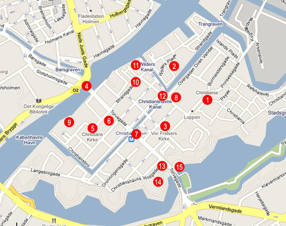 Christianshavn Copenhagen Tourist Attractions Christiania – Copenhagen Tourist Attractions Map