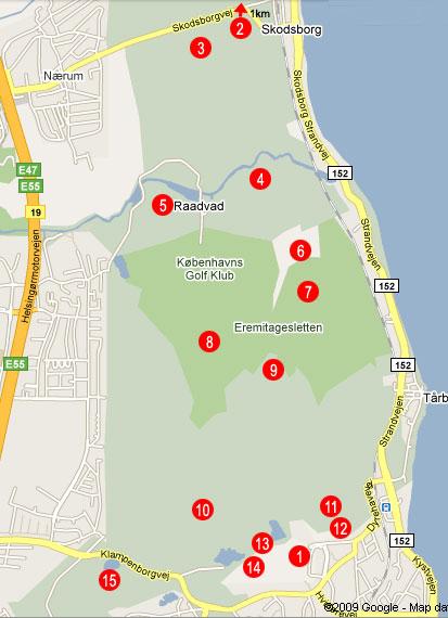 Dyrehave - Copenhage Tourist Map