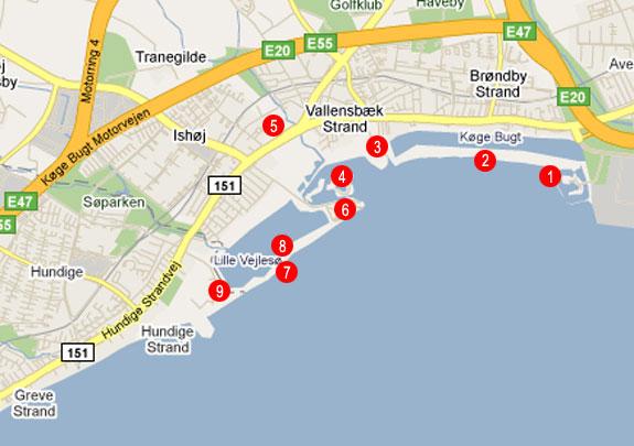 Køge Bugt Parken Map