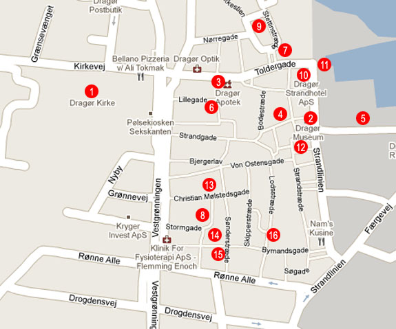 Dragor - Dragør Amager Tourist Map