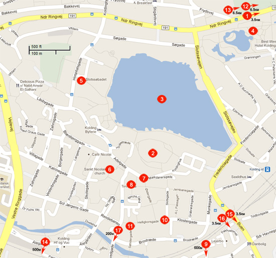 Kolding Tourist Map
